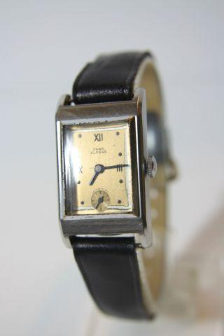 Sehr Alte Para Klasse Art Deco Armbanduhr Kal.  Para (eta?) 735 Ca.  40er Jahre Bild