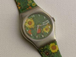 Künstleruhr Gustav Klimt Bauerngarten - Laks Watch - Ungetragen - Limitiert Bild