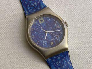 Künstleruhr Gustav Klimt - Blau - Laks Watch - Ungetragen - Limitiert Bild