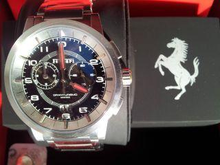 Scuderia Ferrari Gt - Uhr Granturismo Chrono Silber Ovp Uvp 659,  - Bild