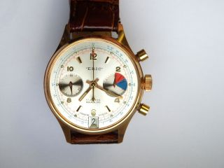 18k Verg.  Vintage Eric Date Chronograph Uhr.  Landeron 187. Bild