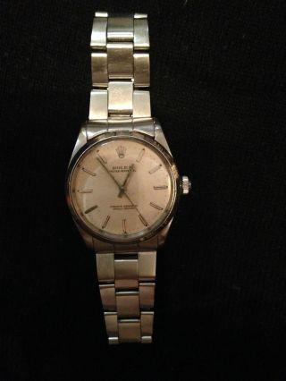 Rolex Oyster Perpetual Edelstahl Vintage Superlative Chronometer Bild