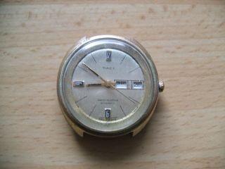 Defekte Alte Vintage Timex Automatic Herrenuhr Sammlung An Bastler Bild