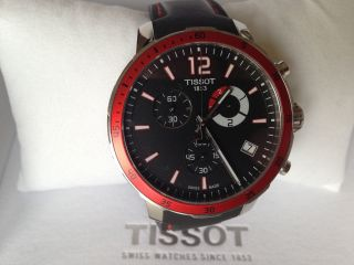 Tissot Quickster Football Edition Red Armbanduhr Rar Chronograph Luxus - Geschenk Bild