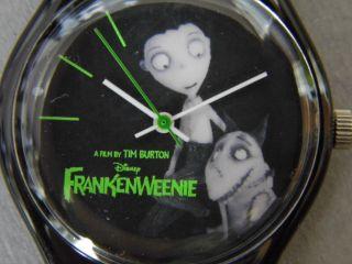 Tim Burton - Disney Frankenweenie - Armbanduhr Uhr - Ungetragen In Ovp Schwarz Bild