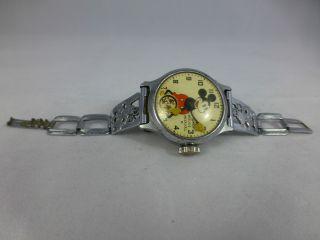Mickey Mouse Uhr,  Ingersoll,  Stiftanker,  Chrom,  Sammleruhr,  Vintage 1920 - 70 Bild