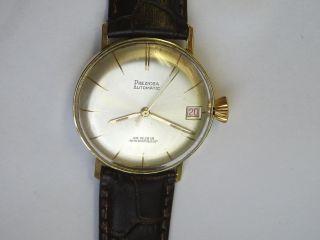 14k 585 Gold Vintage Swiss Made Chronometer Preziosa Automatikuhr Bild