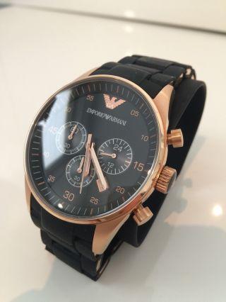 Emporio Armani Herrenuhr Ar5905 Uhr Armbanduhr Chronograph Bild