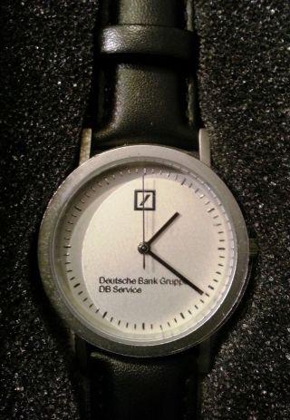 Armbanduhr Echtes Leder Logo Deutsche Bank 24,  5 Cm Lang D Ca.  3 Cm Bild