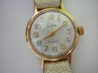 Damen Armbanduhr Slava Handaufzug,  Läuft,  Sammler Bild