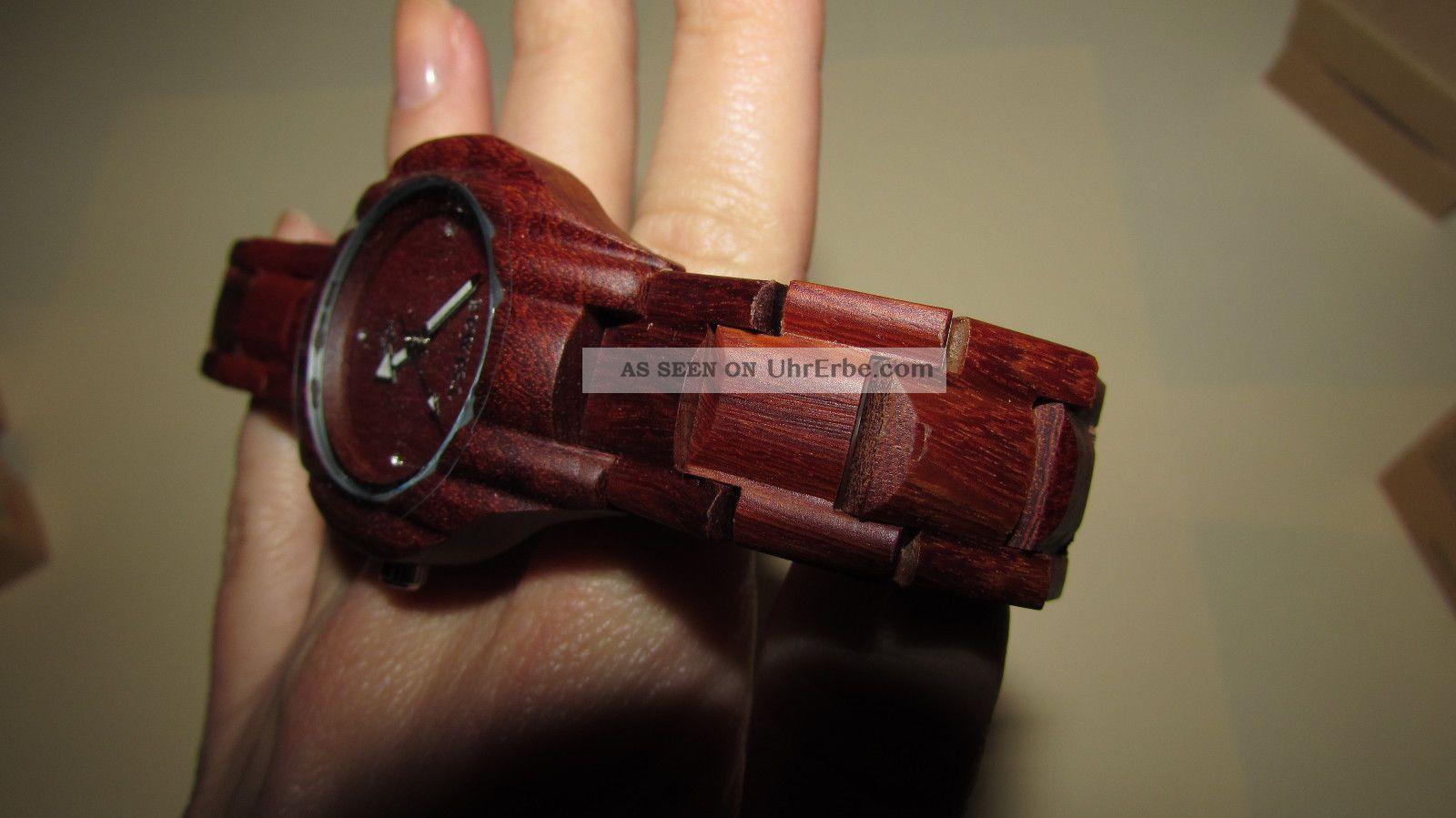 Holz Armbanduhr Square Maple ~ Damen Bewell Holz Armbanduhr Holzuhr Sandelholz Unikat Echtholz