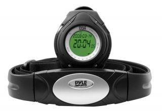 Pyle Sport Stoppuhr Wireless Sendegurt Alarm Kalorien Herzfrequenz Wasserfest Bild