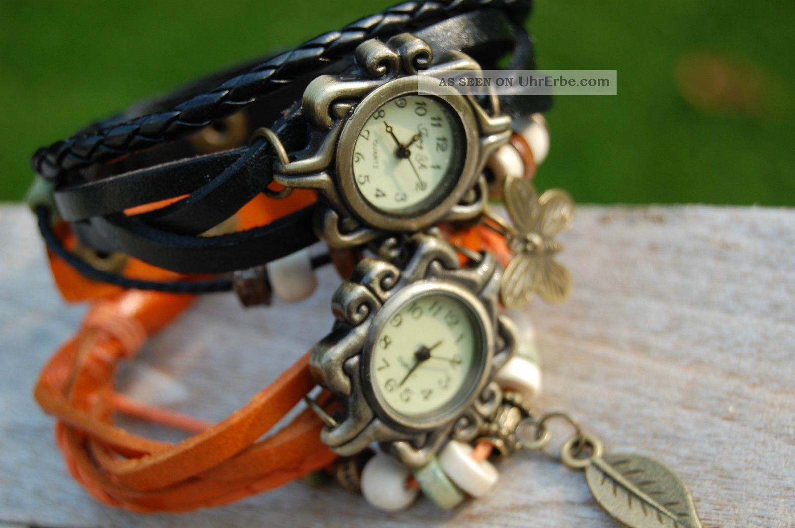 hippie queen chic ibiza uhr armband der trend des sommers orange. Black Bedroom Furniture Sets. Home Design Ideas