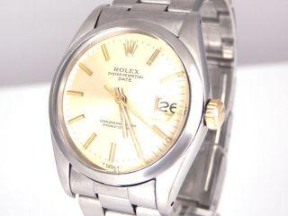 Vintage Rolex Date Ref.  1500 Stahl M.  Gelbgold Krone Hau Automatik 34mm Bild