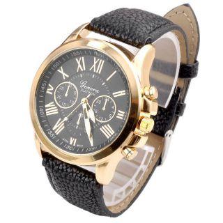 Geneva Pu Leder Damen Armbanduhr Quarzuhr Damenuhr Herrenuhr Analog Uhr Geschenk Bild