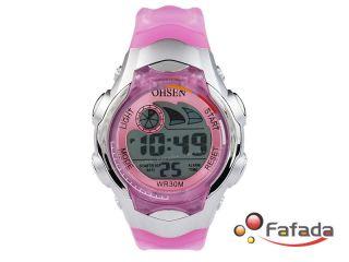 Ohsen Pink Sportuhr Armbanduhr Kinderarmbanduhr Uhr Bild