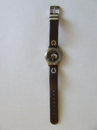 S.  Oliver - Wunderschöne Armbanduhr Mit Pferdemotiv - Sehr Gut Erhalten Bild