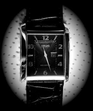 Marquis Funk Armbanduhr Junghans - Uhrwerk Funkuhr Armbanduhr Leder 964.  4715 Bild