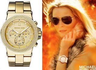 Michael Kors Uhr Mk5386 Gold Damenuhr Mk 5386 Neues Modell Bild