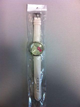 Hello Kitty Uhr Weiss Mit Strass - Kinder - Mädchen - Damen Bild