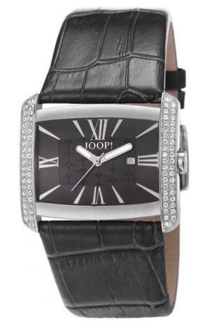 Joop Uhr Romano Tl4404 - Schwarz - Lederarmband - Zirkonias - & Ungetragen Bild