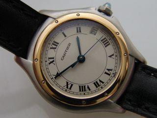 Cartier Panthere Cougar Uhr 26mm Stahl/gold Quarz Datumsanzeige Damen Bild