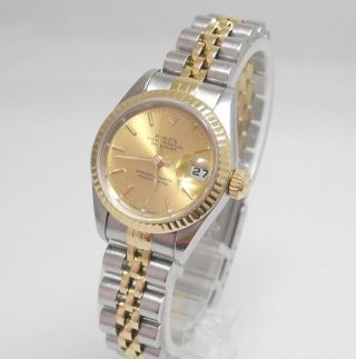 Rolex Oyster Perpetual Datejust Stahl/ 18kt Gold Ref.  69173 A Serie Bild