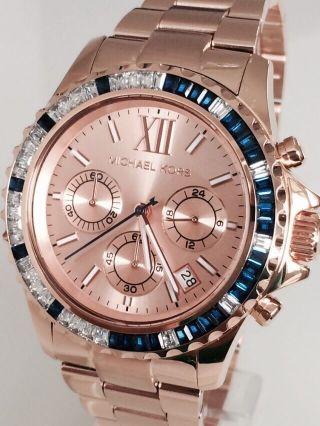 Michael Kors Mk5755 Chronograph Uhr Rosegold Uvp 329€ Bild
