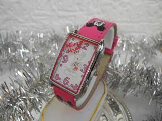Armbanduhr Mit Mickey Mouse Motiv - Pink - Dornschließe - Geschenkidee Xmas Bild