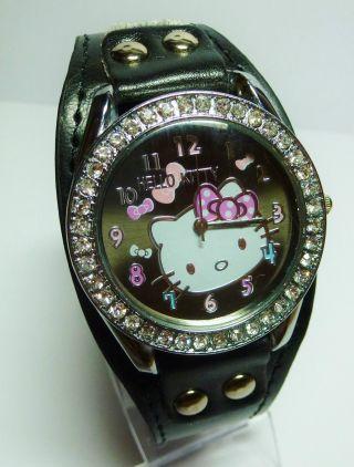 Armbanduhr Uhr Hello Kitty Silikon Strass Bild