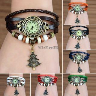 Weihnachtsbaum Wrap Armband - Uhr - Quarz - Bewegungs - Armbanduhr Mädchen - Frauen Bild
