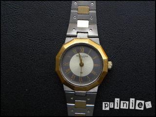 Solvil Et Titus Damen Armbanduhr 22mm Edelstahl Vergoldet Matt Bicolor Armband Bild