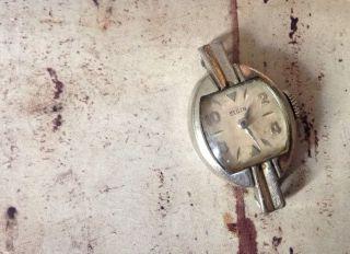 Vintage Elgin 10k Gold Plated Armband Uhr Uhr Gesicht Look Bild