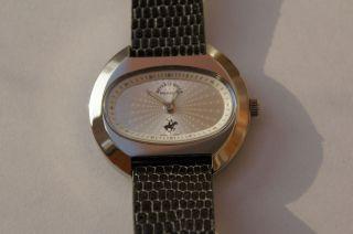Beverly Hills Polo Club Damenuhr Uhr Elegance Lederarmband Silber Bild