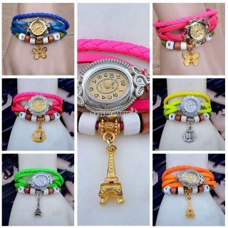 Armband Uhr Quarz Bewegungs Armbanduhr Mädchen - Frauen 12 Farben Fashion Nizza Bild