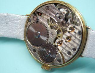 14k 585 Gold Movado Damen Chronometer,  Handaufzug Uhr.  Um 1890 Bild