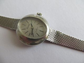 Elegante 835 Silber Primato Damen Armbanduhr Art Deco Stil Handaufzug Läuft Bild