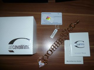 Cavalli Just Uhr Snake Heart Rose Gold Cavallitime Armbanduhr R7253424645 Bild