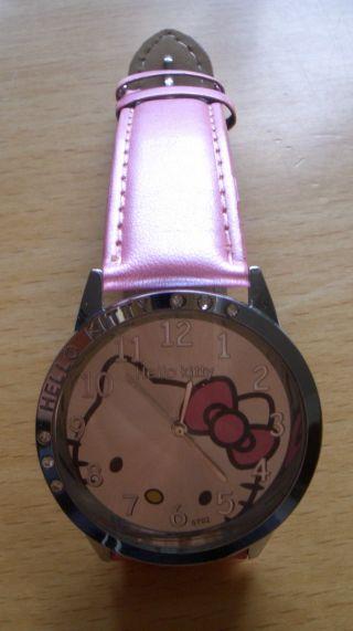 Hello Kitty Damenuhr Kinderuhr Armbanduhr Uhr Rosa Pink Kinder Wecker Rot Bild