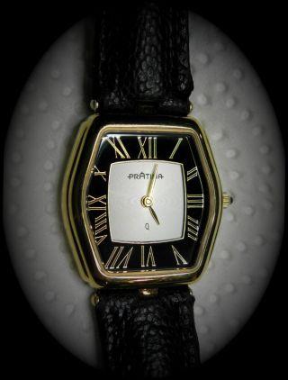 PrÄtina Damen Uhr Schwarz Gold Saphirglas Kaliber Eta 902.  005 Bild