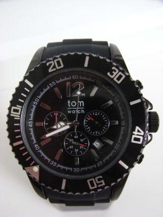 Tomwatch Chrono 48 Wa 0096 Schwarz Armbanduhr Gl.  Produktion Wie Kyboe Uvp 119€ Bild