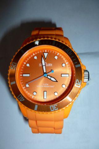 S.  Oliver Damenuhr - Silikonband - Orange Bild