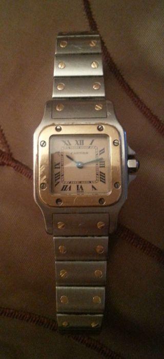 Cartier Santos Damenuhr Edelstahl - Gold 18 Kt.  Ref: 1057930 Luxusuhr Bild