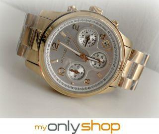 Michael Kors Mk5305 Damen Armbanduhr Xs Chronograph Quarz Edelstahl Bild
