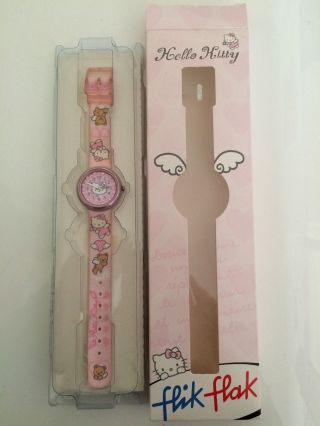 ❤️ Hello Kitty ❤️ Flik Flak ❤️ Armbanduhr ❤️ Stossfest - Wasserdicht - Waschbar Bild