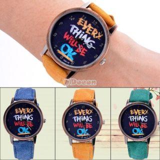 Frauen,  Mädchen,  Männer Boy Analog 3 Farben - Band - Quarz - Armbanduhr - Geschenk Hot Bild