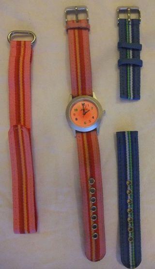 Meine Erste Armbanduhr,  Von Jako - O,  Mädchen,  2 Neue Ersatz - Armbämder Bild