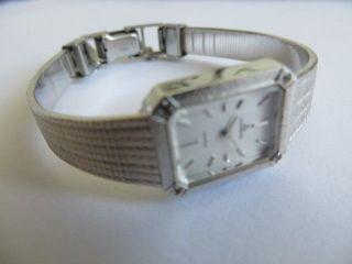 Kleine Elegante Dugena Schweiz Silber Mädchen Damen Armbanduhr Quarz Wie Bild