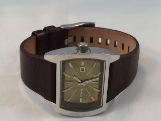 Diesel Damenuhr Mit Lederarmband Sportliche Armbanduhr Chronograph Neuwertig Bild