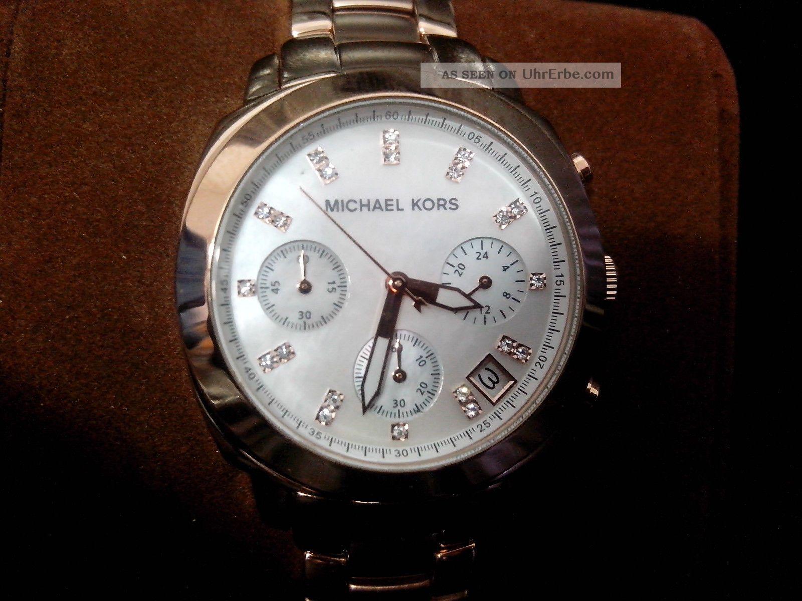 °°michael Kors°° Damenuhr°° Uvp: 249 Eur°° Mit Etikett Armbanduhren Bild